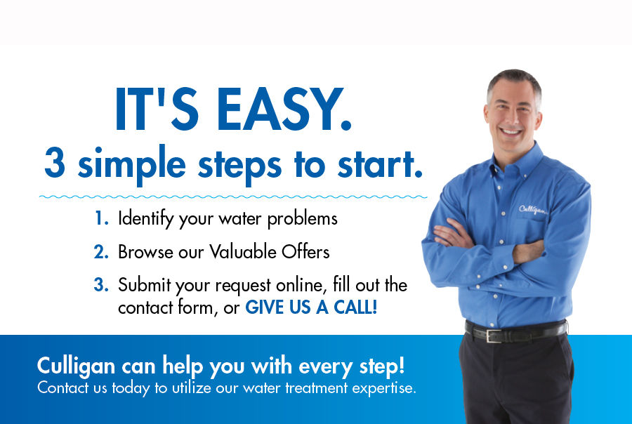 identify water problems, browse valuable offers, submit request
